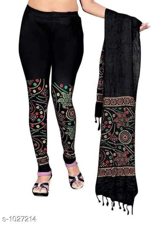 Leggings *Myhra Stylish Cotton Printed Leggings Dupata  Vol 1*   *Fabric* Legging - Cotton, Dupatta - Cotton  * Size* Legging -  XL - Up To 28 in to 32 in, XXL -34 in to 38 in, Dupatta - 2.15 mtr  *Length* Up to 40 in  *Type* Stitched  *Description* It Has 1 Piece Of Women's legging With Dupatta    *Work* Printed  *Sizes Available* Free Size, M, L, XL, XXL *    Catalog Name: Myhra Stylish Cotton Printed Leggings Dupata Vol 1 CatalogID_124116 C79-SC1035 Code: 563-1027214-