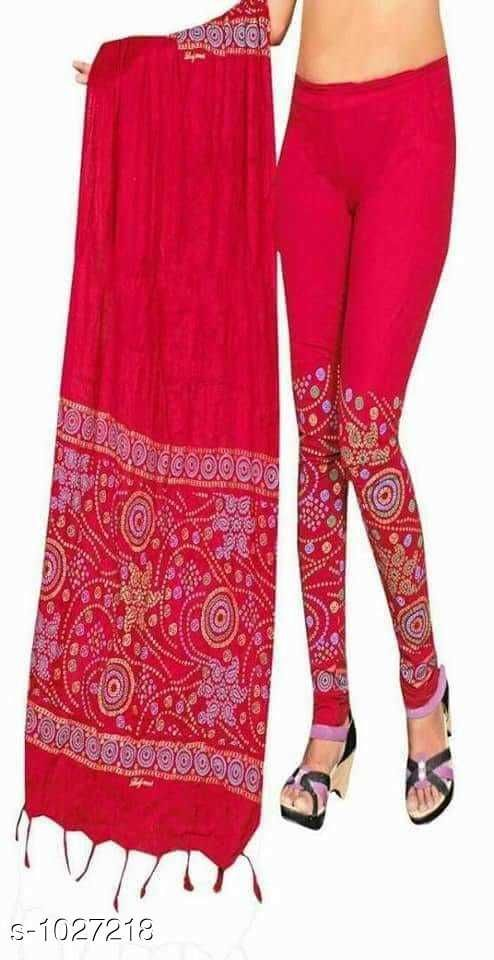 Leggings *Myhra Stylish Cotton Printed Leggings Dupata  Vol 1*   *Fabric* Legging - Cotton, Dupatta - Cotton  * Size* Legging -  XL - Up To 28 in to 32 in, XXL -34 in to 38 in, Dupatta - 2.15 mtr  *Length* Up to 40 in  *Type* Stitched  *Description* It Has 1 Piece Of Women's legging With Dupatta    *Work* Printed  *Sizes Available* Free Size, M, L, XL, XXL *    Catalog Name: Myhra Stylish Cotton Printed Leggings Dupata Vol 1 CatalogID_124116 C79-SC1035 Code: 543-1027218-