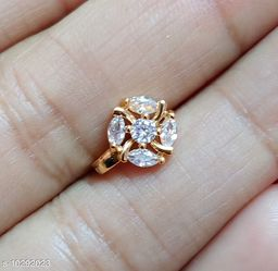 NEW AMERICAN DIAMOND NOSE RING