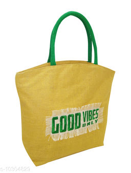 Eco-friendly jute carry bag with zipper