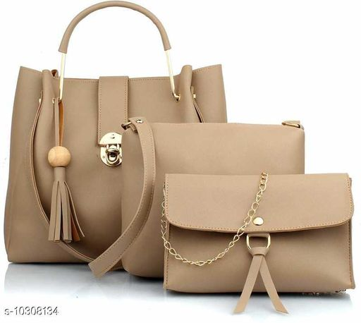 HerCraft Women PU Leather Hand Bag (Combo of 3)