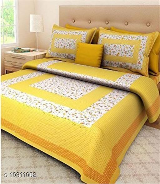 Jaipuri Print Cotton Double Bedsheet