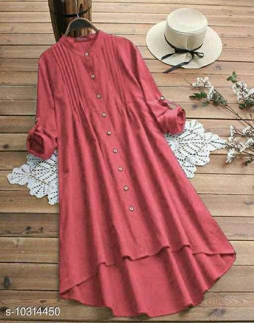 Women's Dyed/ Washed Rayon Kurti