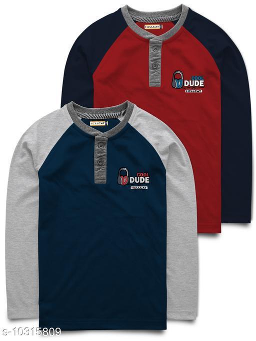 Pack of 2 Raglan Full Sleeve Tshirt for Boys