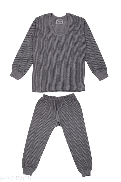 Kids Winter Wear Thermal Top and Bottom Set for Boys and Girls