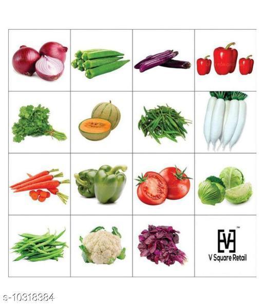 Combo Of Fifteen Winter Kitchen Garden Hybrid Seeds