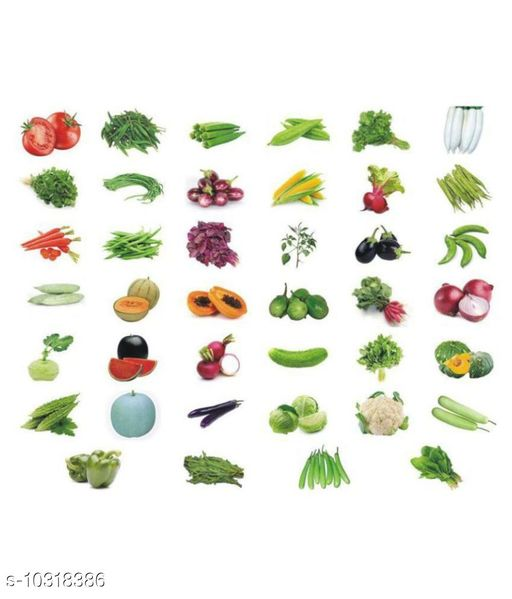 Combo Pack Of 40 Vegetable Seeds For Terrace And Kitchen Gardening.