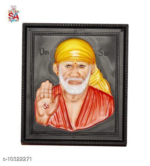 Sai Amrut Sai Baba stone 3D Photo Frame for Home Decor (12 x 15 inch)