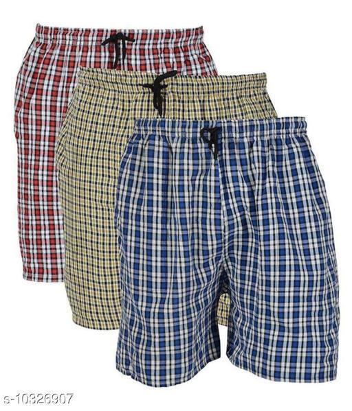 Men's Cotton boxer pack of 3