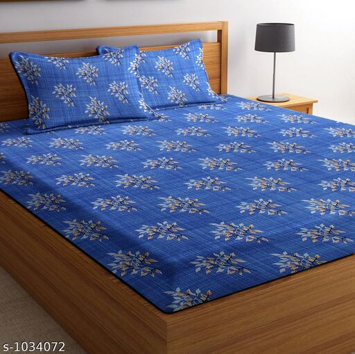 Home Fashionable Microfiber Printed Double Bedsheet