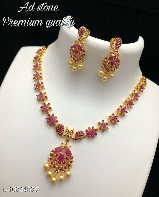 Necklaces & Chains  Necklaces & Chains AD STONE PREMIUM NECK SET  *Sizes Available* Free Size *    Catalog Name:  Necklaces & Chains CatalogID_1879806 C77-SC1092 Code: 013-10344533-