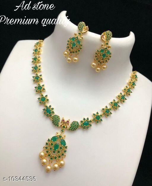 Necklaces & Chains  Necklaces & Chains AD STONE PREMIUM NECK SET  *Sizes Available* Free Size *    Catalog Name:  Necklaces & Chains CatalogID_1879806 C77-SC1092 Code: 013-10344536-