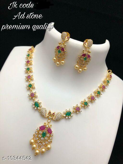 Necklaces & Chains  Necklaces & Chains AD STONE PREMIUM NECK SET  *Sizes Available* Free Size *    Catalog Name:  Necklaces & Chains CatalogID_1879806 C77-SC1092 Code: 013-10344542-
