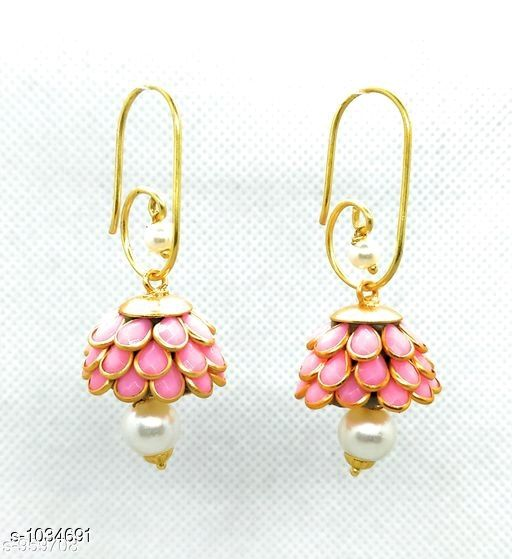 Earrings & Studs Trendy  Alloy Beads Earring   *Material* Alloy  *Size* Free Size  *Description* It Has 1 Pair Of Earring  *Work* Beads Work  *Sizes Available* Free Size *    Catalog Name: Pachi Alloy Earrings  CatalogID_125281 C77-SC1091 Code: 611-1034691-