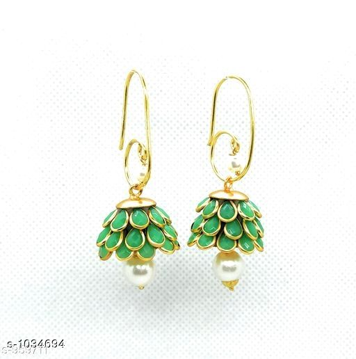 Earrings & Studs Trendy  Alloy Beads Earring   *Material* Alloy  *Size* Free Size  *Description* It Has 1 Pair Of Earring  *Work* Beads Work  *Sizes Available* Free Size *    Catalog Name: Pachi Alloy Earrings  CatalogID_125281 C77-SC1091 Code: 611-1034694-