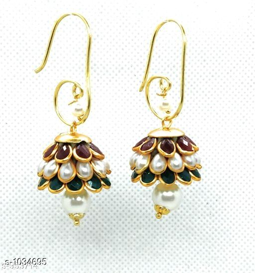 Earrings & Studs Trendy  Alloy Beads Earring   *Material* Alloy  *Size* Free Size  *Description* It Has 1 Pair Of Earring  *Work* Beads Work  *Sizes Available* Free Size *    Catalog Name: Pachi Alloy Earrings  CatalogID_125281 C77-SC1091 Code: 611-1034695-