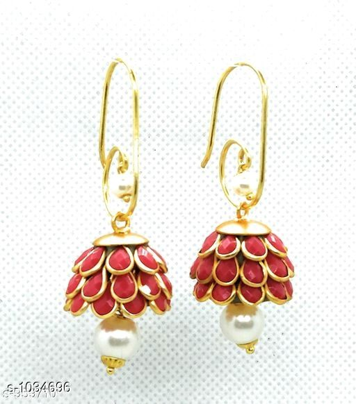 Earrings & Studs Trendy  Alloy Beads Earring   *Material* Alloy  *Size* Free Size  *Description* It Has 1 Pair Of Earring  *Work* Beads Work  *Sizes Available* Free Size *    Catalog Name: Pachi Alloy Earrings  CatalogID_125281 C77-SC1091 Code: 611-1034696-