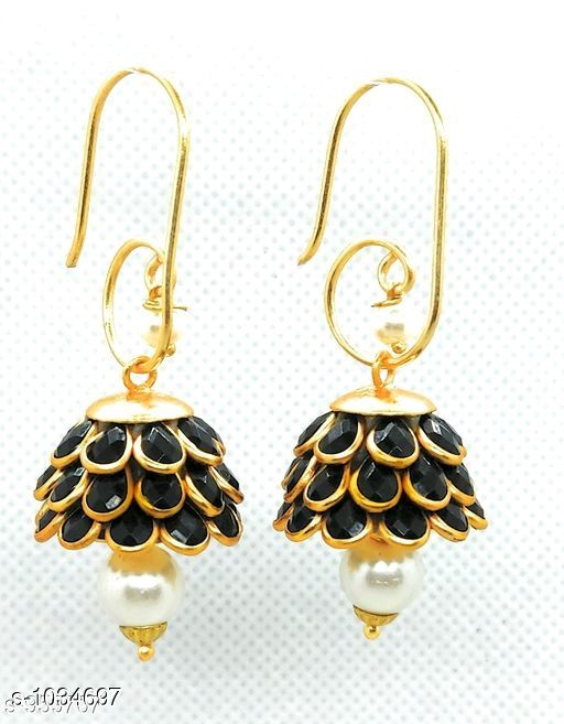 Earrings & Studs Trendy  Alloy Beads Earring   *Material* Alloy  *Size* Free Size  *Description* It Has 1 Pair Of Earring  *Work* Beads Work  *Sizes Available* Free Size *    Catalog Name: Pachi Alloy Earrings  CatalogID_125281 C77-SC1091 Code: 611-1034697-