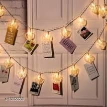 Diwali Lightings 10 Photo Clip Fairy String Lights for Outdoor,Indoor, Anniversary, Birthday Party,Diwali, Christmas Decoration,Valentine Gifts Girlfriend Or Boyfriend, Bedroom, Home Photos Light Décor  *Product Name* 10 Photo Clip Fairy String Lights for Outdoor,Indoor, Anniversary, Birthday Party,Diwali, Christmas Decoration,Valentine Gifts Girlfriend Or Boyfriend, Bedroom, Home Photos Light Décor  *Brand Name* VENZISA  *Material* Glass  *Multipack* 10  *Color* Multicolor  *Type* Decorative Lights  *Sizes*   *Sizes Available* Free Size *    Catalog Name: VENZISA Diwali Lightings CatalogID_1882730 C98-SC1377 Code: 554-10356503-