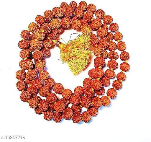 Raviour Lifestyle 5 Mukhi Rudraksha Japa Mala 108 +1 Beads for Men and Women