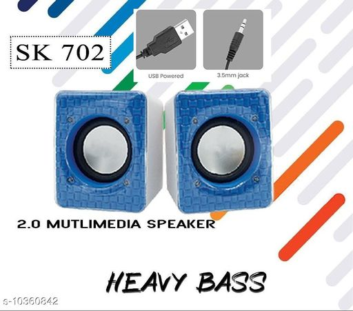 2.0 Multimedia Speaker SK702 with Aux Connectivity,USB Powered