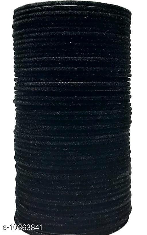 TRENDY BANGLE BLACK (SET OF 48 PCS)