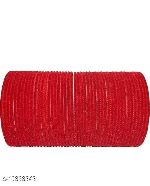 TRENDY BANGLE RED (SET OF 48 PCS)