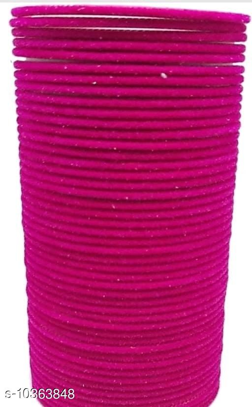 TRENDY BANGLE PINK (SET OF 48 PCS)