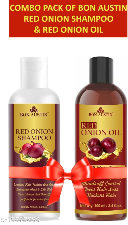 Herbal Products Bon Austin Red Onion oil(100 ml) & Red Onion Shampoo(100 ml) Combo Pack(200 ml)  *Product Name* Bon Austin Red Onion oil(100 ml) & Red Onion Shampoo(100 ml) Combo Pack(200 ml)  *Multipack* 2  *Sizes Available* Free Size *    Catalog Name:  Advanced Relief Herbal Oil CatalogID_1886947 C50-SC1297 Code: 062-10373833-