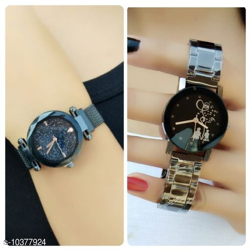 New design attractive dial colour  pack of 2 girls analog watches