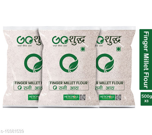 Atta Premium Quality Flour  *Brand Name* Goshudh  *Type* Flour  *Capacity* 500 gm  *Multipack* 3  *Sizes Available* Free Size *    Catalog Name: Premium Quality Flour CatalogID_1888800 C89-SC1772 Code: 789-10381539-