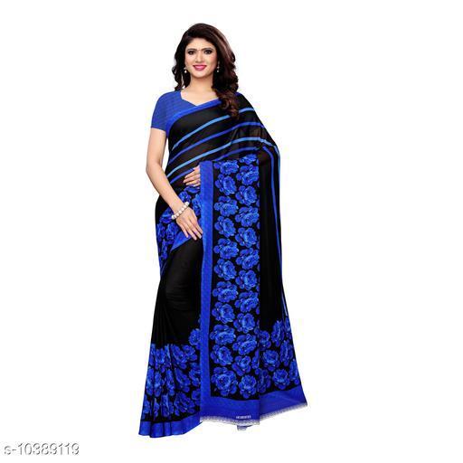 Multi Georgette Printed Women Saree