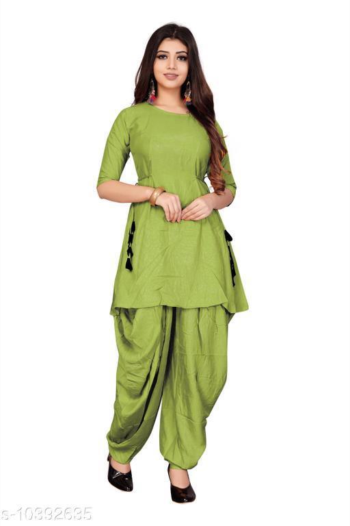 Ethnic Bottomwear - Patiala Pants Hit Patiala kurti with Dhoti pant   *Fabric* Rayon  *Multipack* 1  *Sizes*   *38 (Waist Size* 36 in, Length Size  *Sizes Available* 38, 40, 42, 44 *    Catalog Name: Latest Women Patialas CatalogID_1891617 C74-SC1018 Code: 856-10392635-