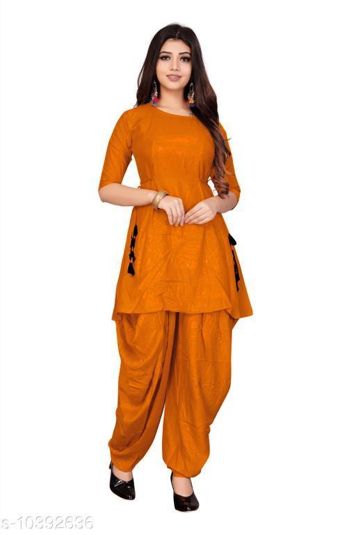 Ethnic Bottomwear - Patiala Pants Hit Patiala kurti with Dhoti pant   *Fabric* Rayon  *Multipack* 1  *Sizes*   *38 (Waist Size* 36 in, Length Size  *Sizes Available* 38, 40, 42, 44 *    Catalog Name: Latest Women Patialas CatalogID_1891617 C74-SC1018 Code: 856-10392636-