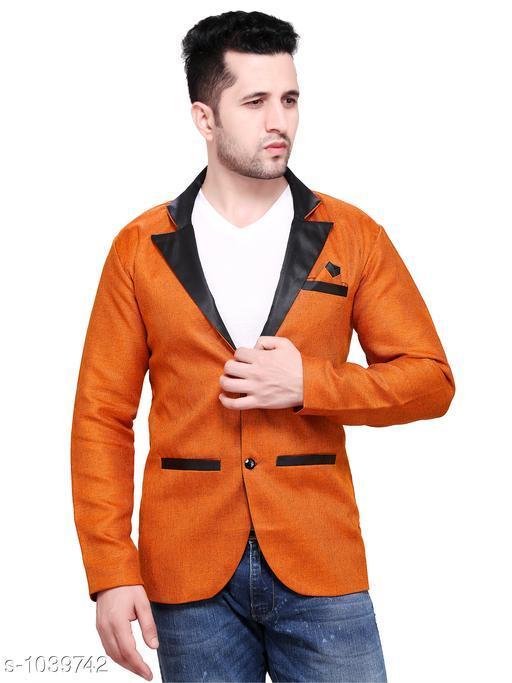Stylish Solid Jute Blazer