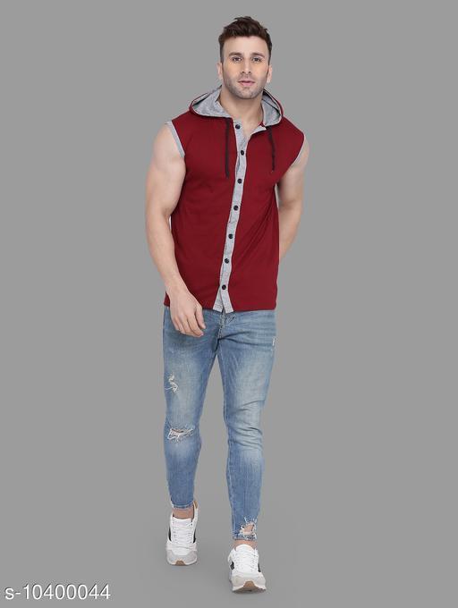 Tfurnish Hood neck Sleeveless Men's Shirts