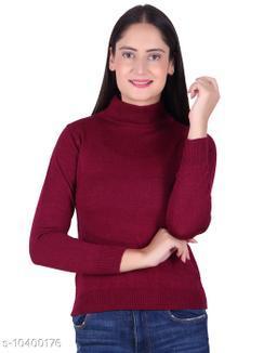Ogarti woollen High neck Magenta Colour sweater