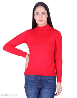 Ogarti woollen High neck Red Colour sweater
