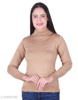Ogarti woollen High neck Camel Colour sweater