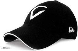 Trendy Unisex Black Caps