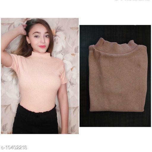Stylish Women's Knitting Cotton Top