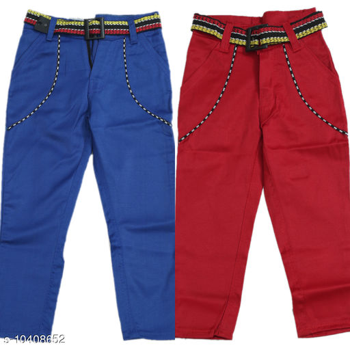Jeans kids jeans and pant combo  *Fabric* Cotton  *Pattern* Solid  *Multipack* Pack of 2  *Sizes*   *18-24 Months (Waist Size* 10 in, Length Size  *Sizes Available* 18-24 Months *    Catalog Name: Cute Funky Boys Jeans & Jeggings CatalogID_1895342 C59-SC1180 Code: 726-10408652-