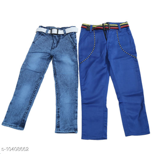 Jeans kids jeans and pant combo  *Fabric* Denim  *Pattern* Solid  *Multipack* Pack of 2  *Sizes*   *2-3 Years (Waist Size* 11 in, Length Size  *Sizes Available* 2-3 Years *    Catalog Name: Cute Funky Boys Jeans & Jeggings CatalogID_1895342 C59-SC1180 Code: 726-10408662-