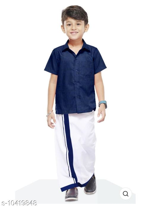 Sherwanis COLOUR SHIRT & DHOTHY  *Multipack* 1  *Sizes*  4-5 Years  *Sizes Available* 4-5 Years *    Catalog Name: Cute Comfy Kids Boys Sherwanis CatalogID_1897590 C58-SC1172 Code: 465-10419848-