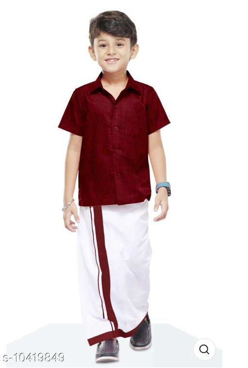 Sherwanis COLOUR SHIRT & DHOTHY  *Multipack* 1  *Sizes*  4-5 Years  *Sizes Available* 4-5 Years *    Catalog Name: Cute Comfy Kids Boys Sherwanis CatalogID_1897590 C58-SC1172 Code: 465-10419849-