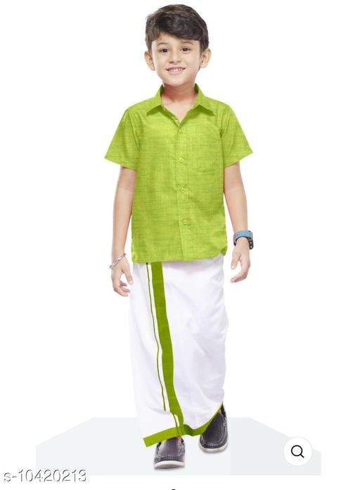 Sherwanis COLOUR SHIRT & DHOTHY  *Multipack* 1  *Sizes*  8-9 Years  *Sizes Available* 8-9 Years *    Catalog Name: Princess Trendy Kids Boys Sherwanis CatalogID_1897677 C58-SC1172 Code: 047-10420213-