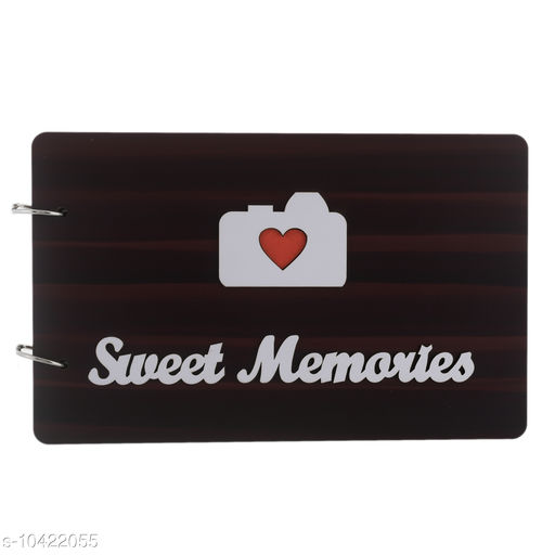 Gifts & Mugs  Crafted Studio Sweet Memories Scrapbook Photo Albums for 4x6 Photos for Sweet Family, Friends, Couples Husband Wife (26.5 cm X 16.5 cm X 4 cm, Dark Brown) Crafted Studio Sweet Memories Scrapbook Photo Albums for 4x6 Photos for Sweet Family, Friends, Couples Husband Wife (26.5 cm X 16.5 cm X 4 cm, Dark Brown)  *Sizes Available* Free Size *    Catalog Name: Check out this trending catalog CatalogID_1898078 C127-SC1268 Code: 584-10422055-
