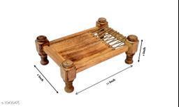 Wooden Khaat Platter Small - LxBxH - 12x9x4 Inch
