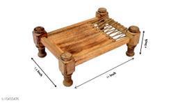 Wooden Khaat Platter Small - LxBxH - 11x7.5x4 Inch