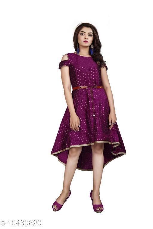 Tapeta Buti Flared Western Dress For Women
